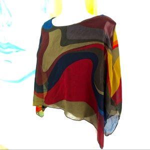 Abstract sheer blouse